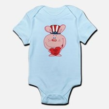Pink Rabbit Happy 4th July Infant Bodysuit