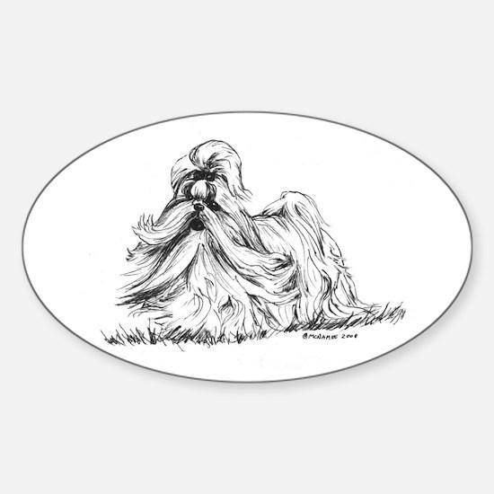 Shih Tzu Sticker (Oval)