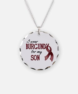 Wear Burgundy - Son Necklace