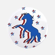 """USA Horse 3.5"""" Button"""