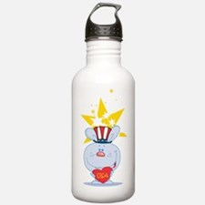 Blue Rabbit Love USA Water Bottle