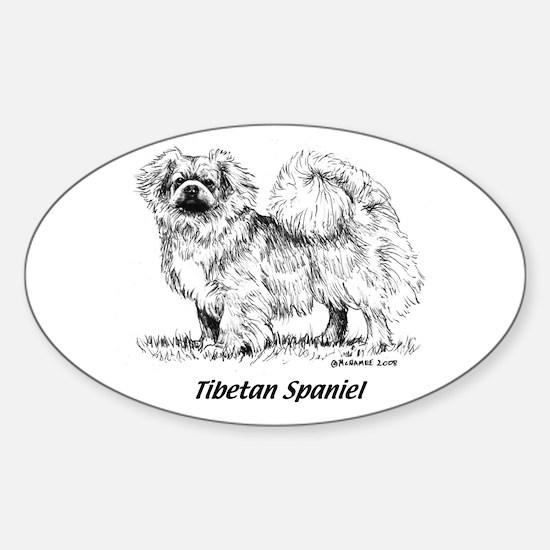 Tibetan Spaniel Sticker (Oval)