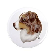"Australian Shepherd 3.5"" Button"