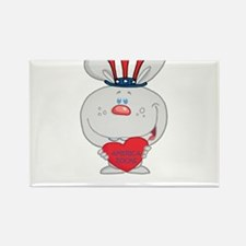 Patriotic Bunny Rectangle Magnet (100 pack)