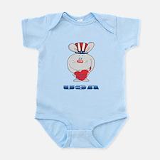Patriotic Bunny Infant Bodysuit