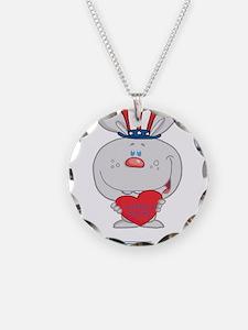 Patriotic Bunny Necklace