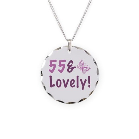 55 & Lovely Necklace Circle Charm