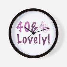 40 & Lovely Wall Clock
