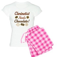 Clarinet Humor Chocolate Women's Light Pajamas