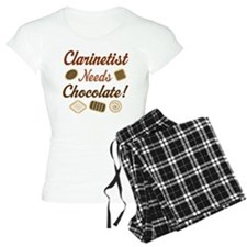 Clarinet Humor Chocolate pajamas
