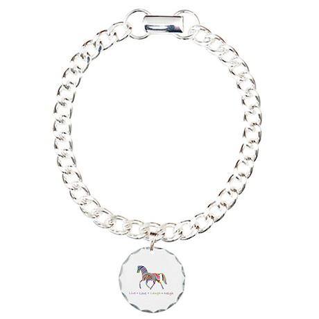 Rainbow pony Charm Bracelet, One Charm