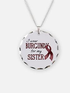 Wear Burgundy - Sister Necklace