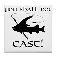 You Shall Not Cast Gandalf Muskie Tile Coaster