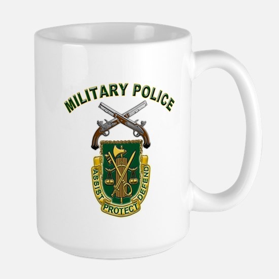 US Army Military Police Crest Large Mug