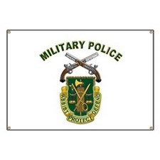 US Army Military Police Crest Banner
