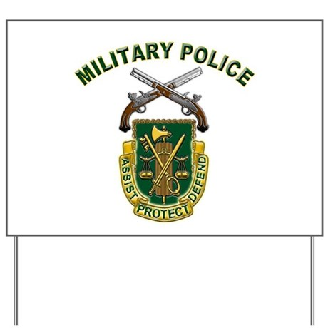 US Army Military Police Crest Yard Sign