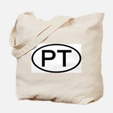 PT - Initial Oval Tote Bag