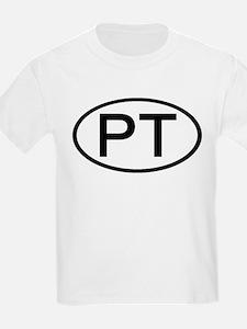 PT - Initial Oval Kids T-Shirt