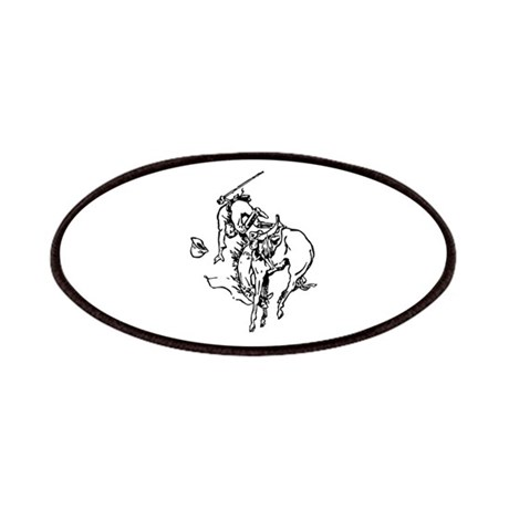 Horse Bucking Cowboy Image Patches