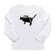 Squirrel on Cat Long Sleeve Infant T-Shirt