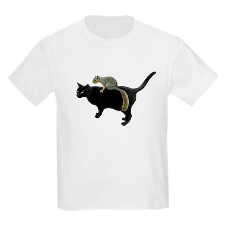Squirrel on Cat Kids Light T-Shirt