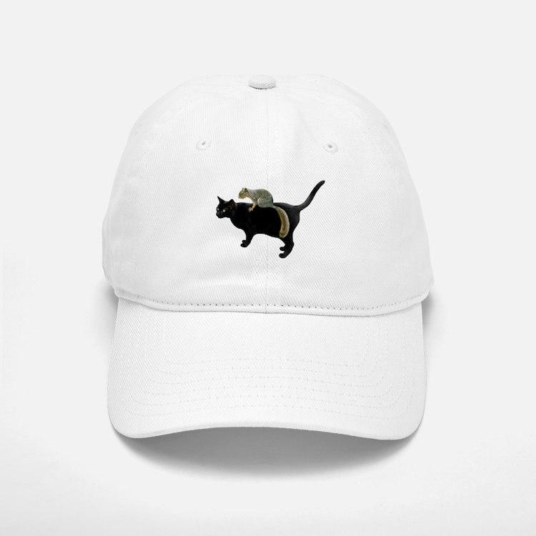 Squirrel on Cat Baseball Baseball Cap