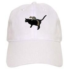 Squirrel on Cat Baseball Cap