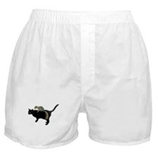 Squirrel on Cat Boxer Shorts