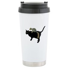 Squirrel on Cat Travel Mug