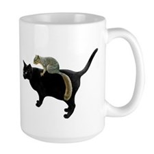 Squirrel on Cat Mug