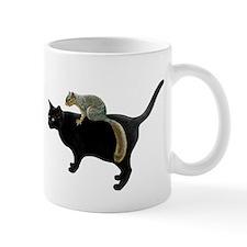 Squirrel on Cat Small Small Mug