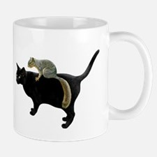 Squirrel on Cat Small Small Mug