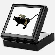 Squirrel on Cat Keepsake Box