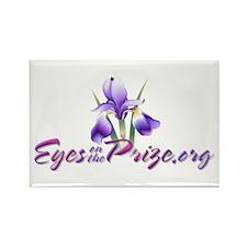 Cute Gynecologic cancer purple ribbon Rectangle Magnet