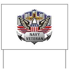 USN Official Navy Veteran Yard Sign
