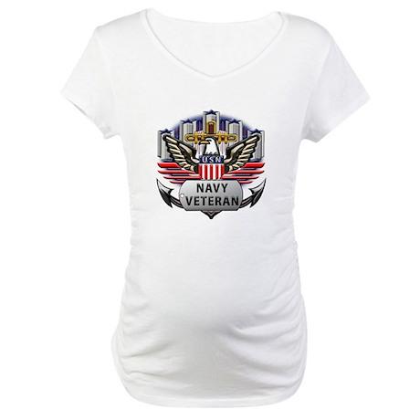 USN Official Navy Veteran Maternity T-Shirt