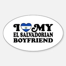 I Love My El Salvadorian Boyfriend Sticker (Oval)