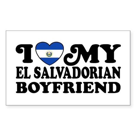 I Love My El Salvadorian Boyfriend Sticker (Rectan