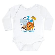 2nd Birthday Jungle Long Sleeve Infant Bodysuit