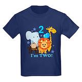 Birthday theme Kids T-shirts (Dark)