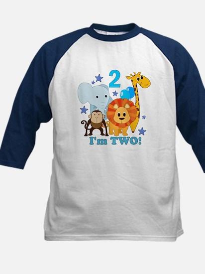 2nd Birthday Jungle Kids Baseball Jersey