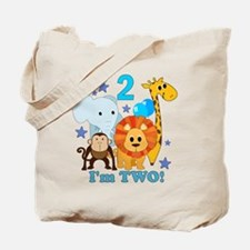 2nd Birthday Jungle Tote Bag