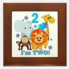 2nd Birthday Jungle Framed Tile
