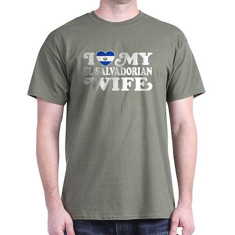 I Love My El Salvadorian Wife Dark T-Shirt