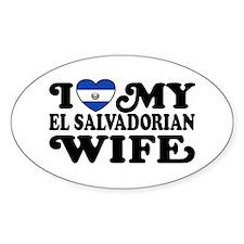 I Love My El Salvadorian Wife Decal