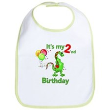 Second Birthday Dino Bib