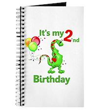 Second Birthday Dino Journal