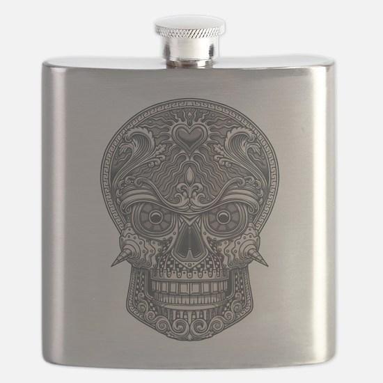 Deadly Love Skull Flask