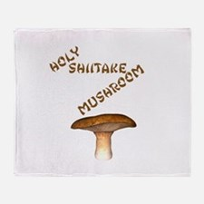 Holy Shiitake Mushroom Throw Blanket