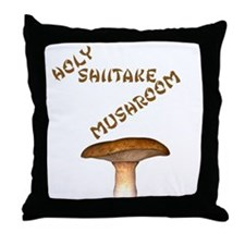 Holy Shiitake Mushroom Throw Pillow